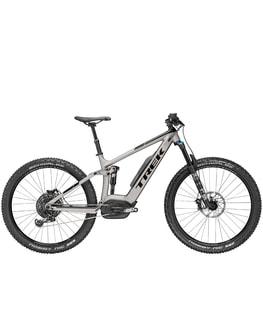 Trek Powerfly 9 FS Plus 2018 (stříbrošedá)